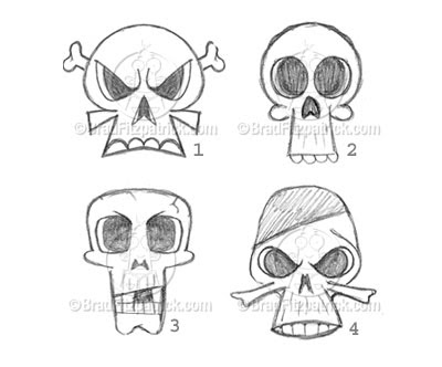 Cool Easy Skull Drawings