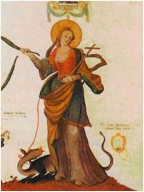 Santa Marta con el Dragon