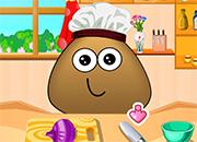 Pou Cooking Lesson juego