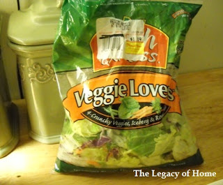 bagged+lettuce Chicken Ranch Wraps
