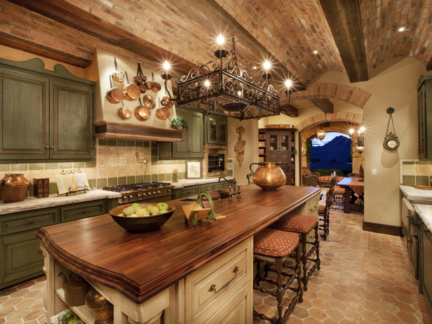 Old World Italian Style Kitchen