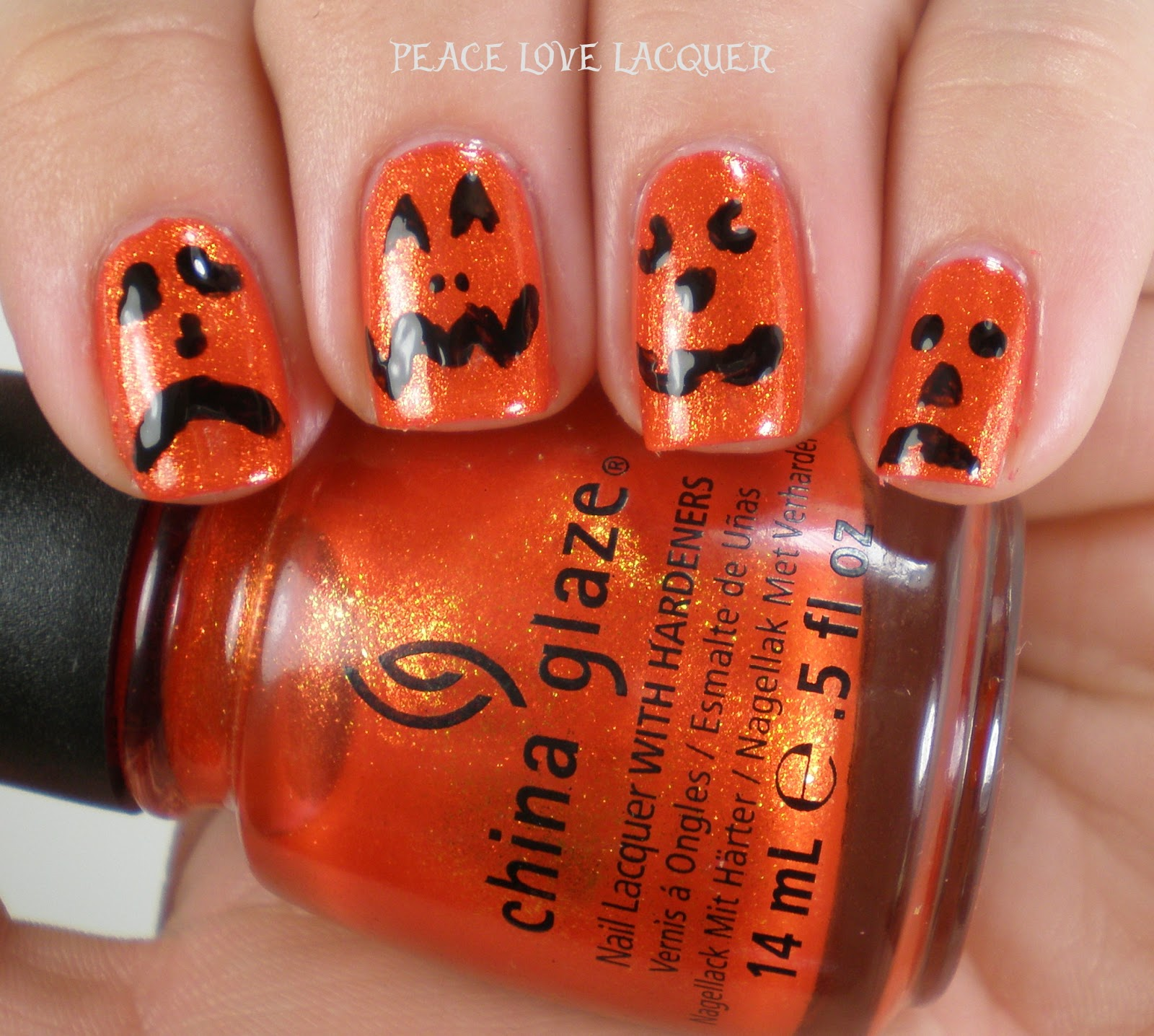Peace Love Lacquer: Halloween Nail Art - Jack-o-Lanterns