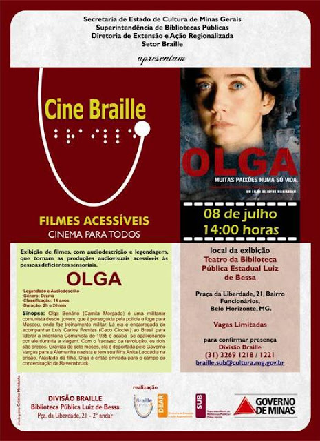 Cine Braille - folder de divulgação
