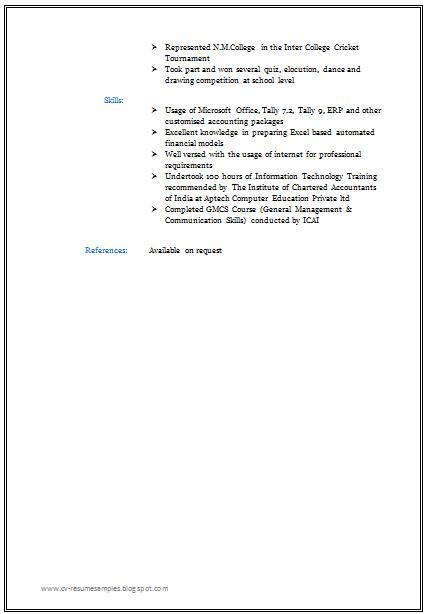 free professional resume format