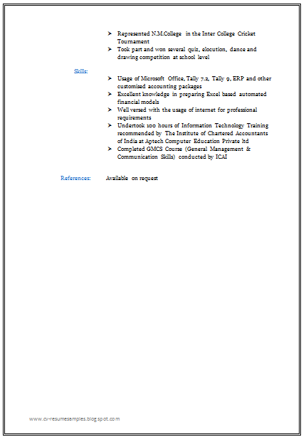 free download professional resume format for all - Format For Professional Resume