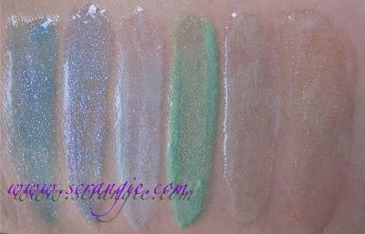 Mac blue lip gloss