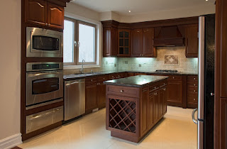 Dark Cherry Wood Kitchen Designs