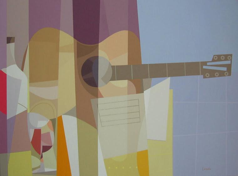 """""""Guitarra (homenaje al cubismo)"""""""