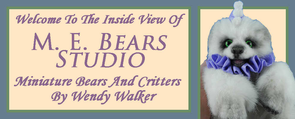M. E.  Bears  -  Miniature  Artist  Bears And Critters