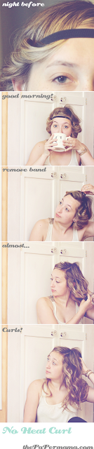 party hair tutorials, The Paper Mama, no heat curls
