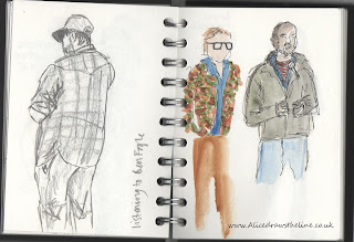 www.AliceDrawsTheLine.co.uk :: TheGoodlifeExperience people sketches