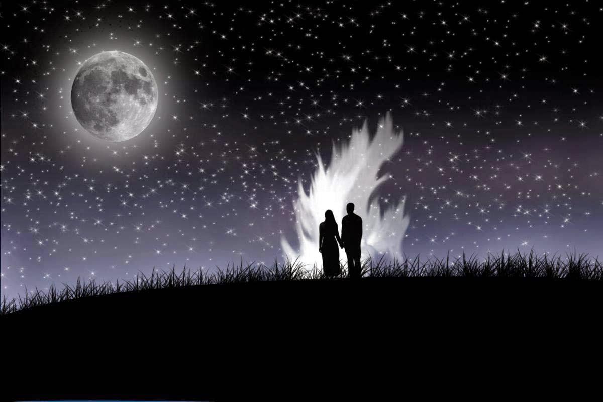 Hd wallpaper night - Lovers Midnight Hd Wallpaper