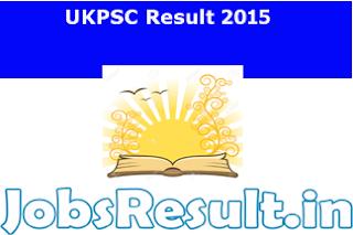 UKPSC Result 2015