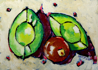 still life | avocados | painting