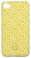 Greek Key Phone Cover with Initial