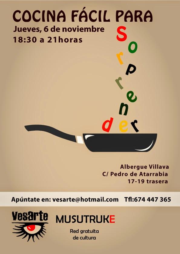El sastre de mis inquietudes cartel de curso de cocina - Carteles de cocina ...