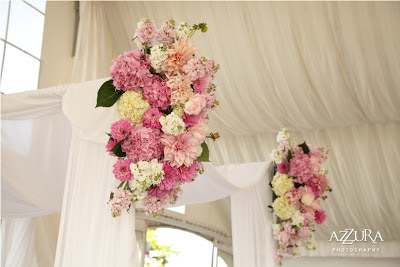 Flora Nova Design, blush pink wedding flowers, chuppah in pink and white