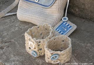 Вязаные украшения для ног. Митенки для ног: Вязание 53