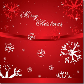 Merry Christmas wishes lettering wallpaper with white and red snowflakes background wallpaper