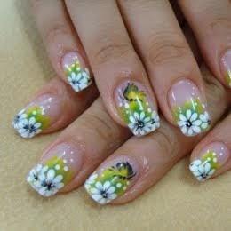 fashionhobbies floral nail designs small white flowers