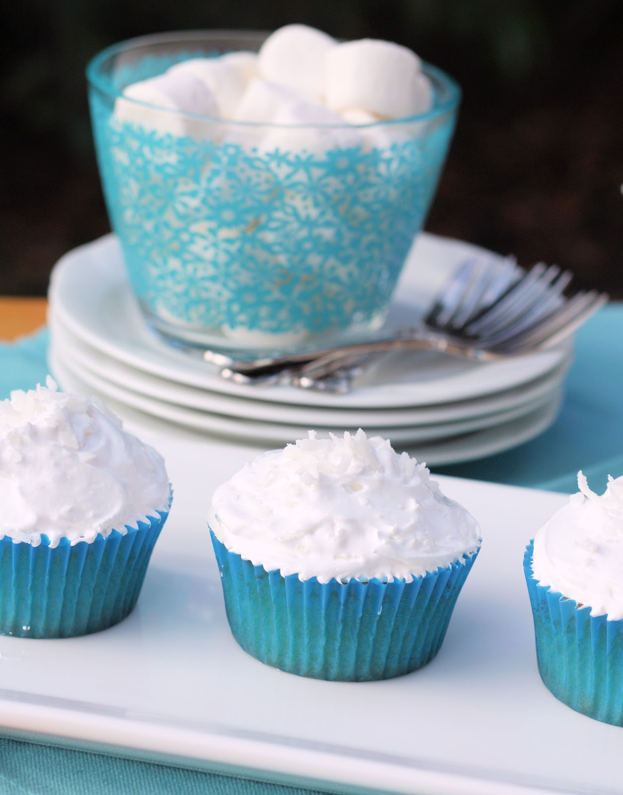 Coconut Cupcakes with 7 Minute Frosting - A Spoonful of Sugar