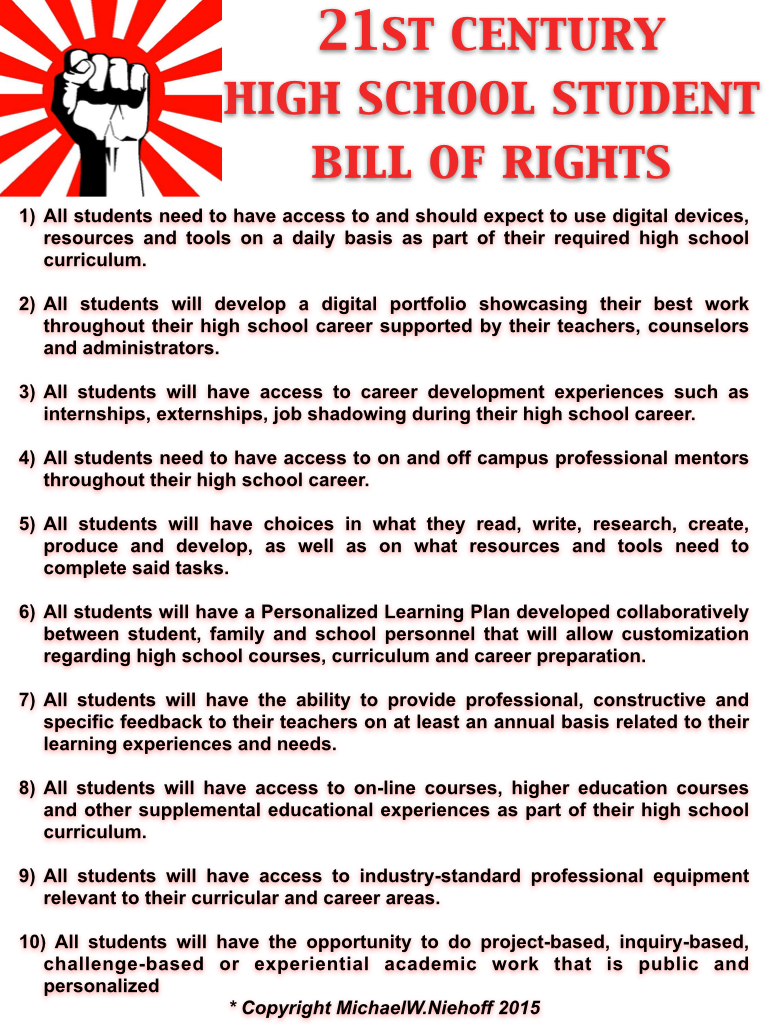 edu change student advocacy st century high school student 21st century high school student bill of rights