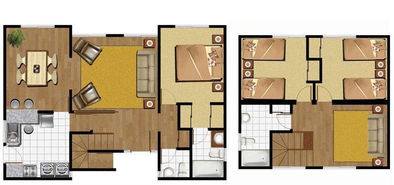 Casas campestres modernas auto design tech for Planos de casas modernas de 2 pisos gratis