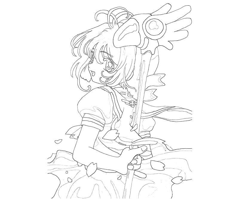 printable-cardcaptor-sakura-sakura-kinomoto-funny-coloring-pages
