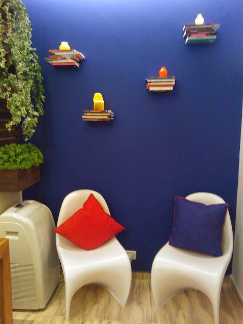 cadeira Panton na Santos Arquidecor 2013 - sala de leitura do Senac