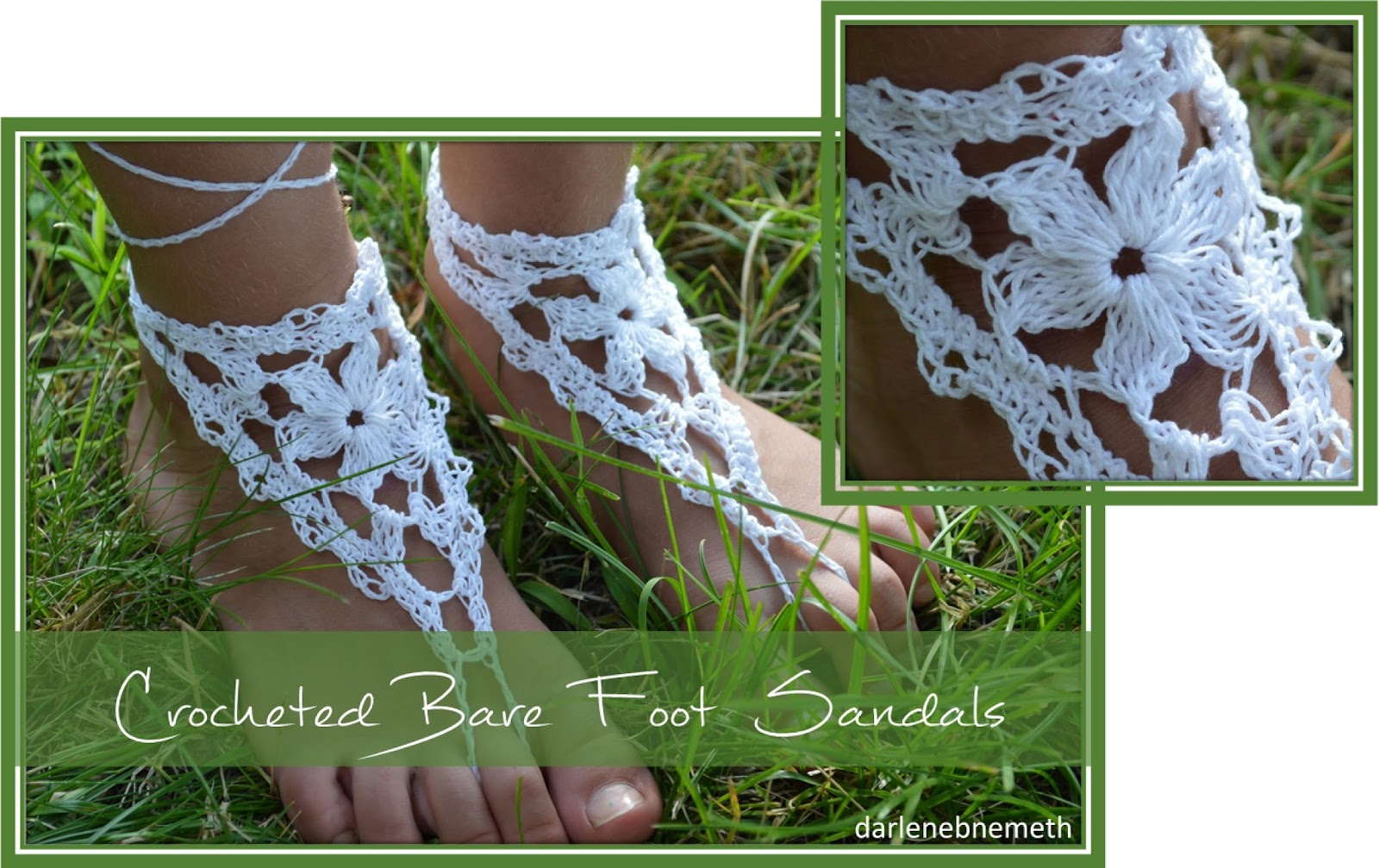 Let It Shine Crocheted Barefoot Sandals
