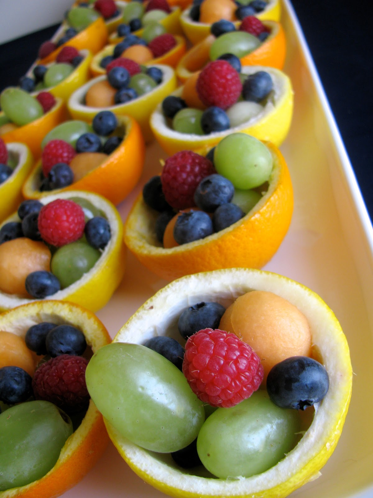 baby shower fruit platter ideas fruit salad in citrus peel