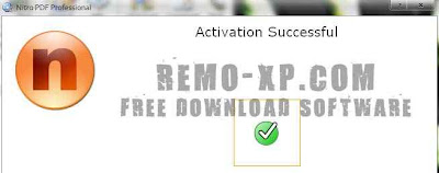 Nitro PDF aktivasi sukses