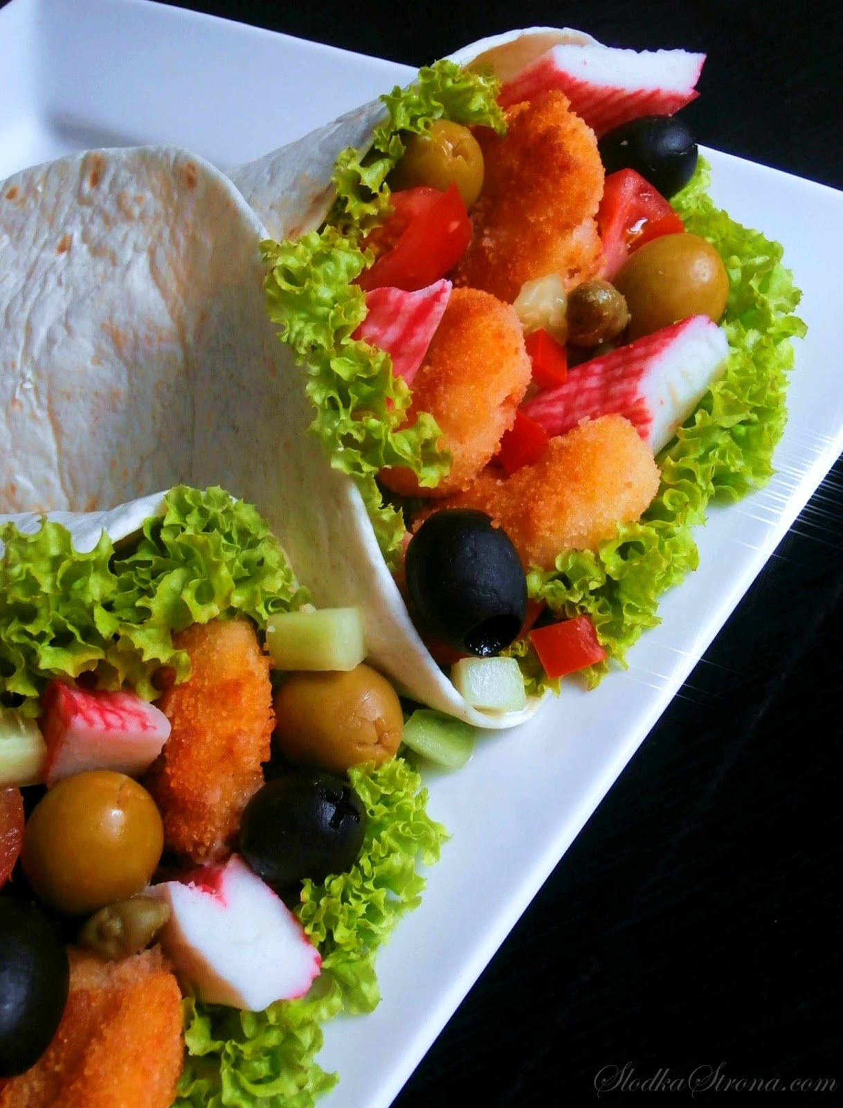 Tortilla z Krewetkami - Przepis - Słodka Strona