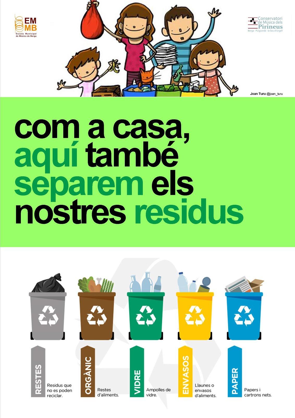 A l'escola triem i reciclem