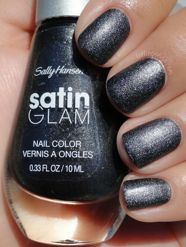 Sally Hansen Satin Glam - Silk Onyx | kelliegonzo