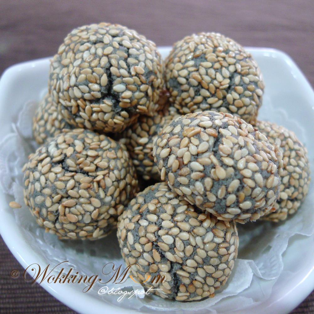 Recipe for black sesame cookies