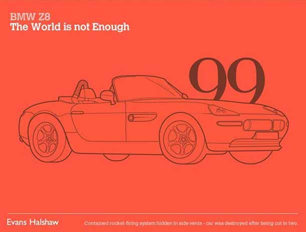 Carros James Bond - 007 - BMW Z8 - The World is not Enough