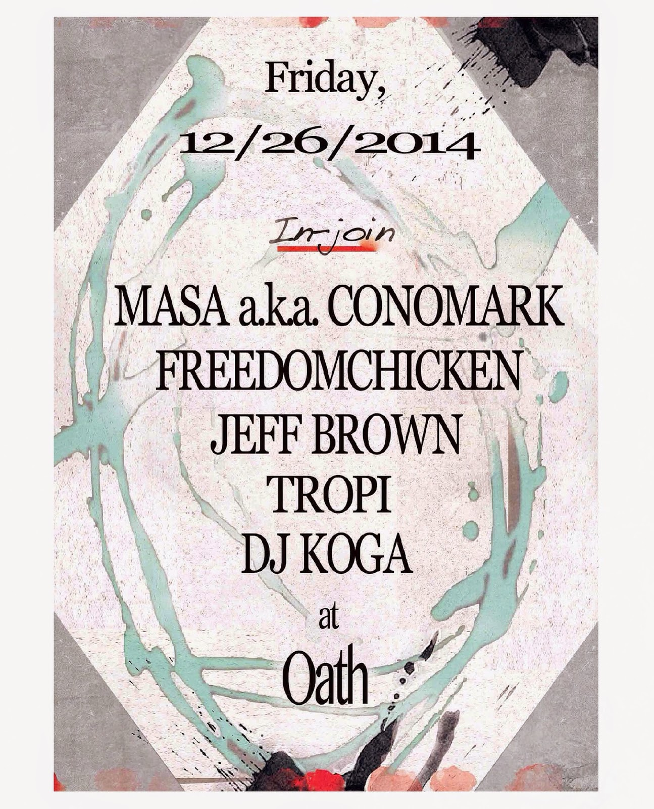 Masa aka Conomark Freedomchicken (JazzySport/14cat/DW79s) Jeff Brown (making' it on fragments) Tropi DJ KOGA (JazzySport/14cat/DW79)