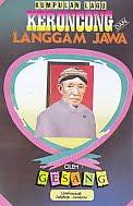 AJIBAYUSTORE  Judul Buku : Kumpulan Lagu Keroncong Dan Langgam Jawa Pengarang : Gesang Penerbit : Cendrawasih