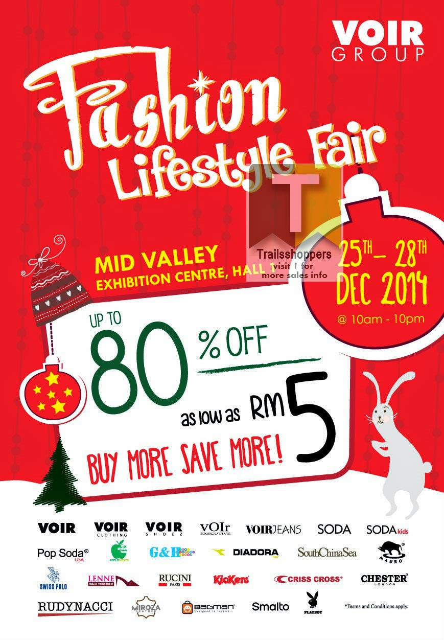 2014 voir fashion lifestyle fair sale at mid valley megamall