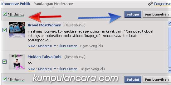Cara moderasi komentar facebook di blog