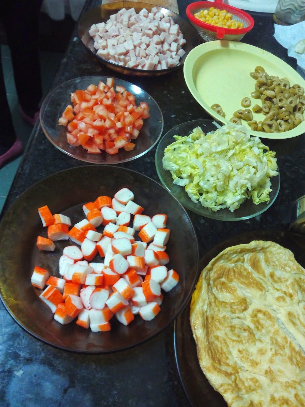 Ensalada de arroz con vinagreta