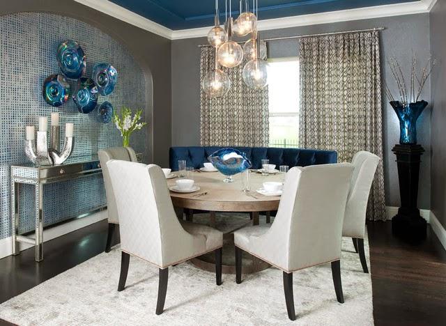 Fotos de comedores elegantes colores en casa for Comedores estampados
