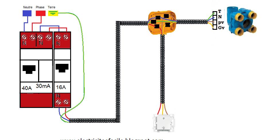 schema electrique montage installation vmc par boite de d rivation installation electrique. Black Bedroom Furniture Sets. Home Design Ideas