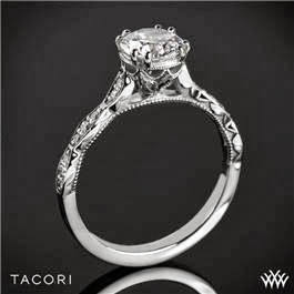 Tacori sculpted crescent elevated crown ring