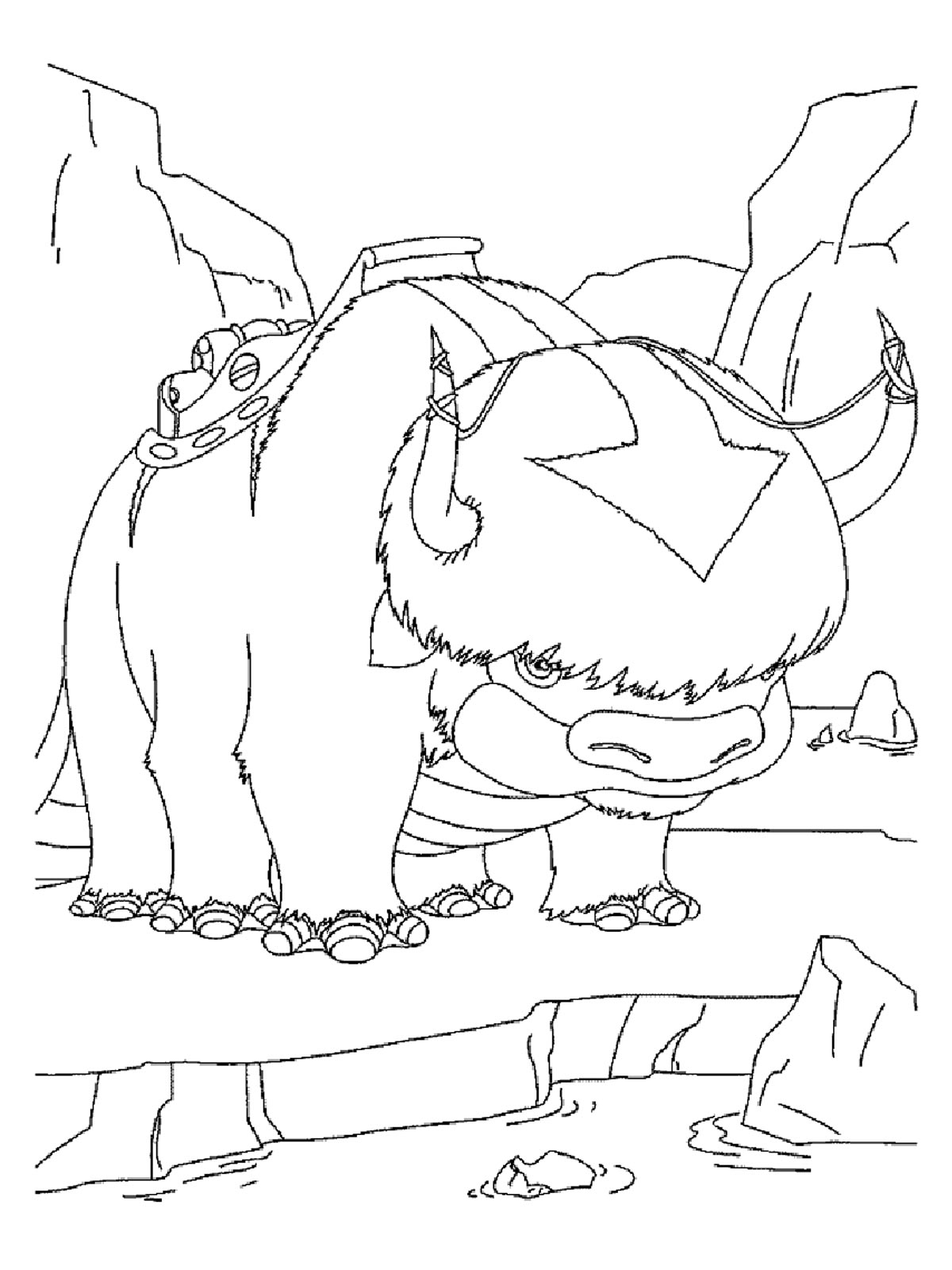 Appa And Momo Avatar Coloring Pages | dExa Byte Free Printable Kids ...