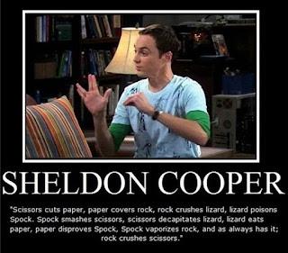 Sheldon Cooper erklärt Stein Schere Papier Echse Spock bzw. Rock Paper Scissors Lizard Spock