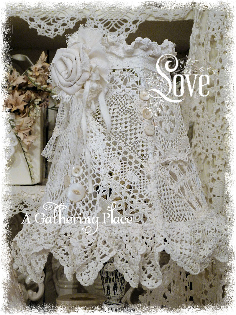 More re furbished vintage lace lampshades wednesday april 17 2013 aloadofball Image collections