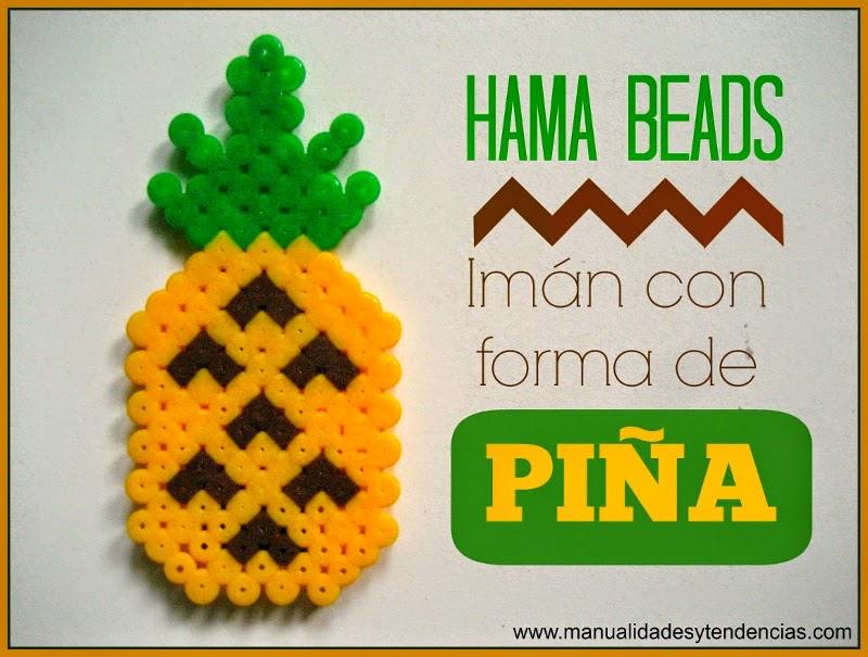 Plantilla de imán con forma de piña de Hama beads o pyssla
