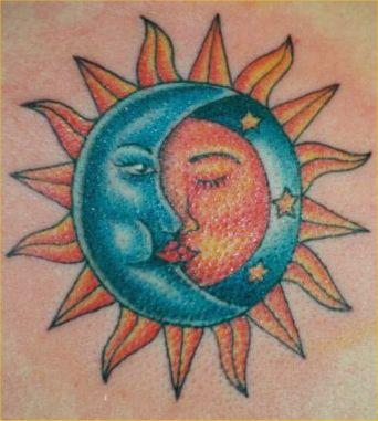 Tattoo Art Sun And Moon Tattoos